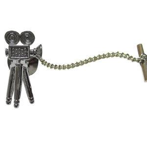 Retro Video Camera Film Tie Tack